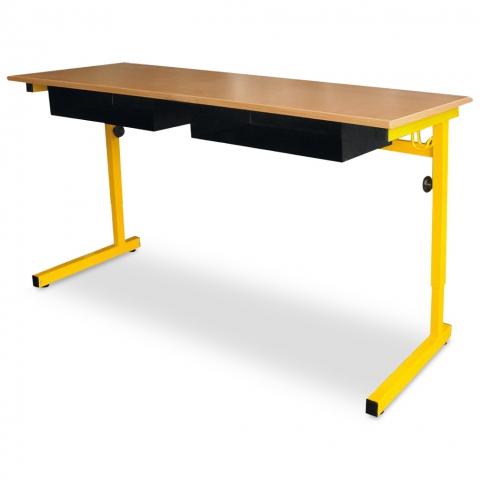 Mobilier pour l'enseignement table adaptable