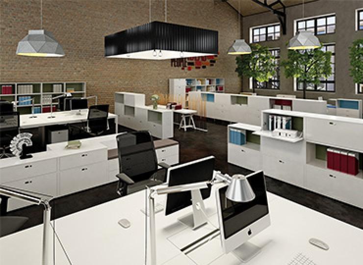 Aménagement d'un espace de coworking avec les rangements de bureau Mézenc