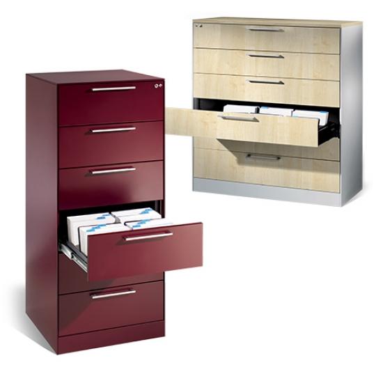 Meuble à tiroirs pour fiches
