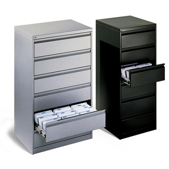 Meuble à tiroirs pour dossiers suspendus et fiches