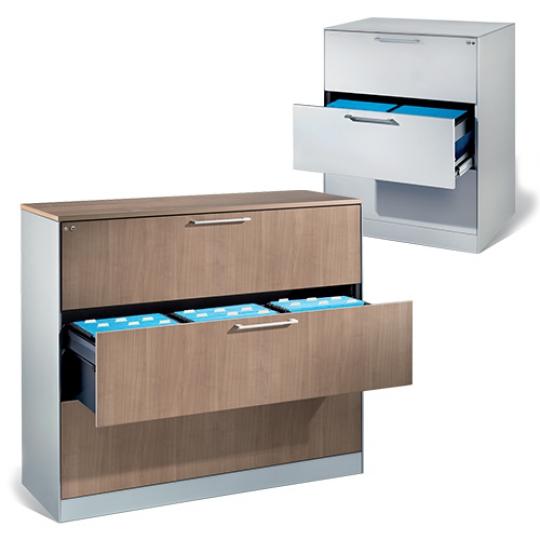 Meuble à tiroirs pour dossiers suspendus
