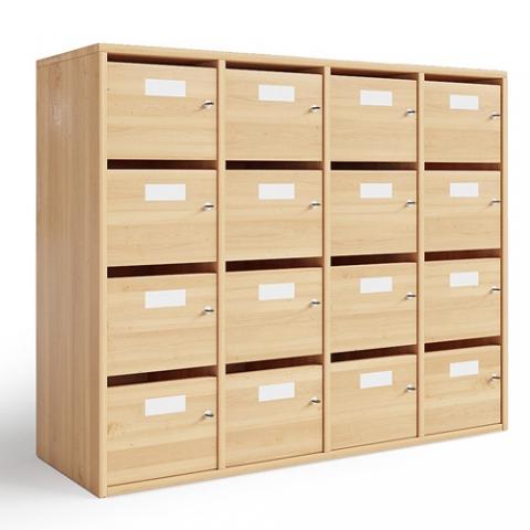 Sarenne, meuble boîtes aux lettes pour l'enseignement